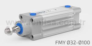 Pnömatik Silindir, Manyetik Yastıklı, ISO 15552, FMY, 32,40,50,63,80,100 FMY
