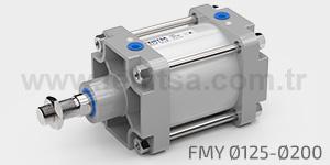 Pnömatik Silindir, Manyetik Yastıklı, ISO 15552, FMY, 125,160,200 FMY